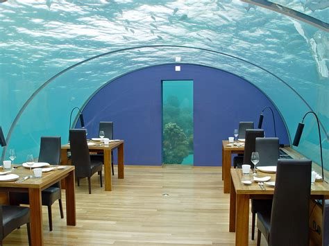 ithaa undersea restaurant world s largest underwater restaurant installed in the