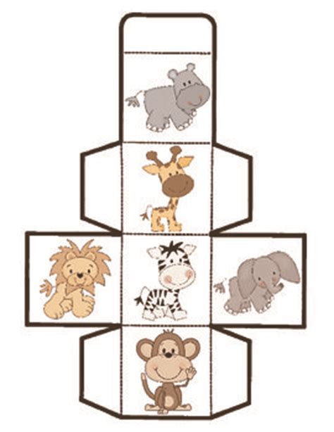 printable animal dice 17 best ideas about cube games on pinterest teaching