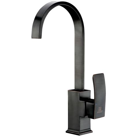 kitchen single handle faucet add style to your kitchen with the anzzi opus single handle kitchen faucet anzzi