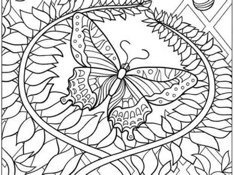 free coloring pages of adult butterfly