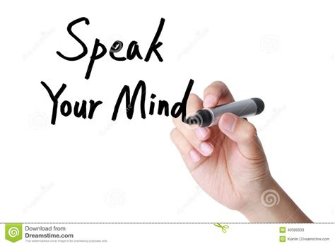 Your Speaks Your Mind speak your mind stock photo image 40389933