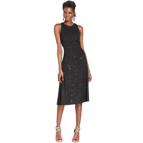 Dress Hodie New York isaac mizrahi new york issac mizrahi dress sleeveless sequin crossback in black lyst