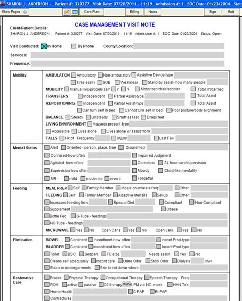 home visit form template skilled nursing charting exles best 25 nursing