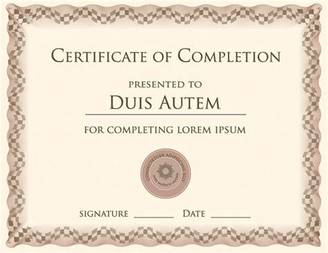 certificate template vector free vector 4vector