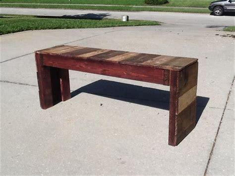 reclaimed wood bench diy diy reclaimed pallet bench pallet furniture plans