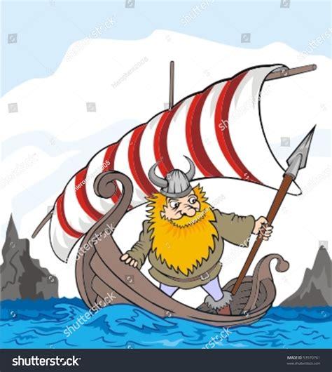 boat horn funny funny viking boat stock vector 53570761 shutterstock