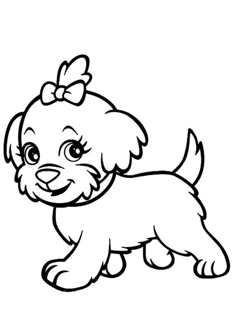 coloring pages of baby dogs cute cartoon dogs pictures cliparts co