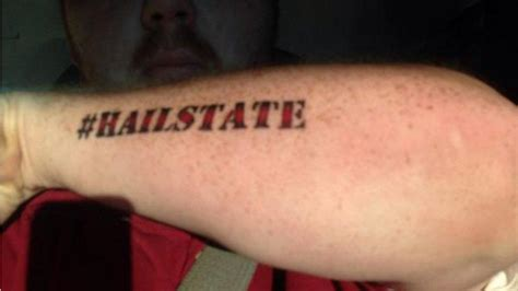 hashtag tattoo mississippi state fan gets hailstate