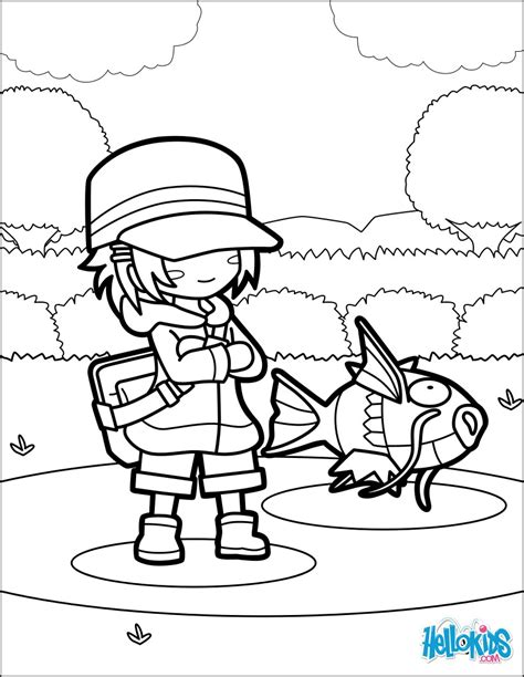 pokemon coloring pages magikarp magikarp jump coloring pages hellokids com