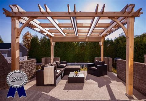 10 x 12 cedar pergola from outdoor living today