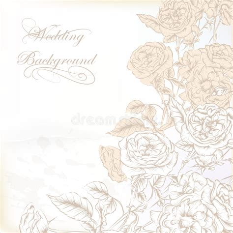 fashion elegant background with hand drawn flowers royalty elegant wedding background with hand drawn roses for