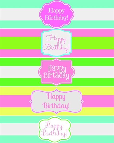 printable label for water bottle free printable happy birthday water bottle label wraps