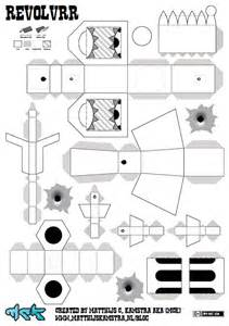 papercraft weapons templates simple papercraft model templates for create