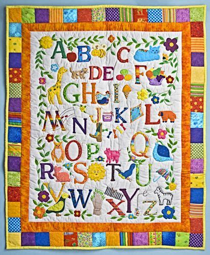 alphabet baby quilt quilts things
