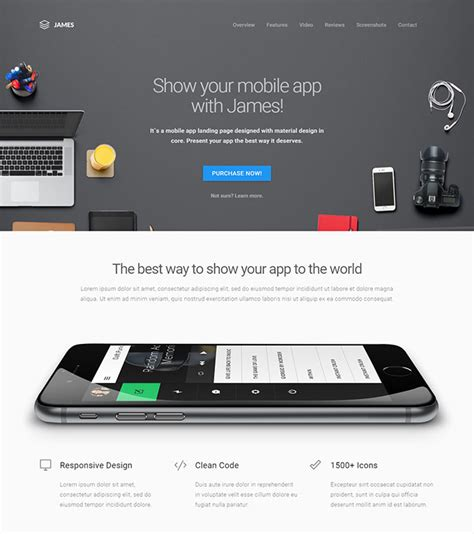 20 Best Html Mobile App Landing Page Templates Web Graphic Design Bashooka Mobile App Landing Page Template