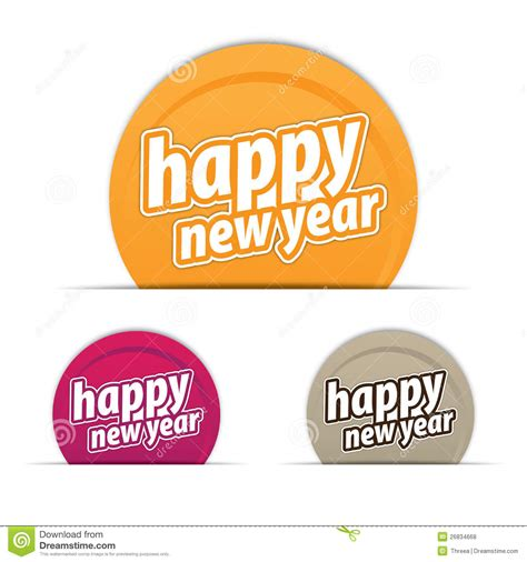 happy new year tags happy new year tags royalty free stock photos image