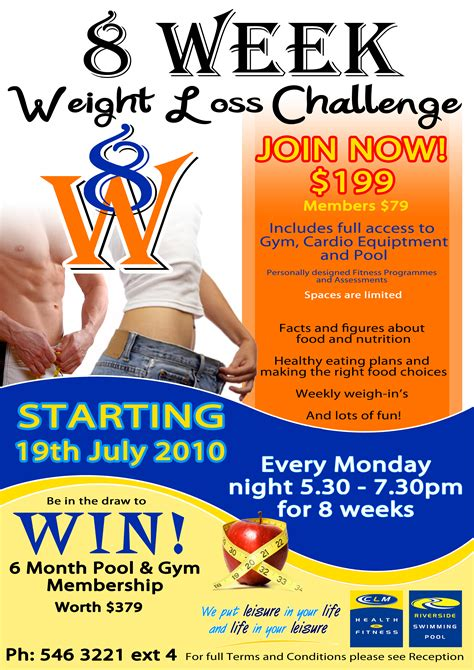 weight loss challenge flyer template riverside swimming pool just another site