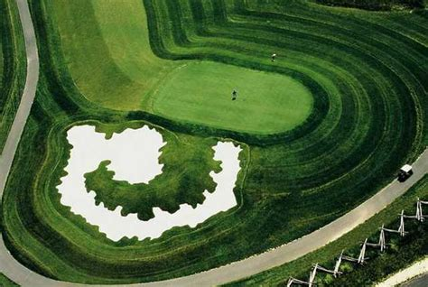 overhead view of golf swing king carter golf club in irvington virginia usa golf
