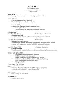 entry level freshers cook resume template