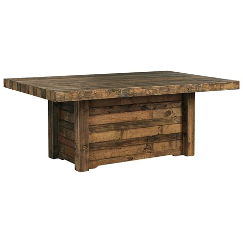Reclaimed Solid Wood Dining Table Signature Design Sommerford D775 25 Solid Wood