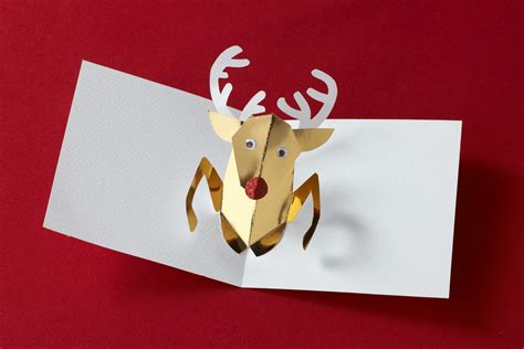 Reindeer Pop Up Card Template by Dz Doodles Digital Sts 11 12 12