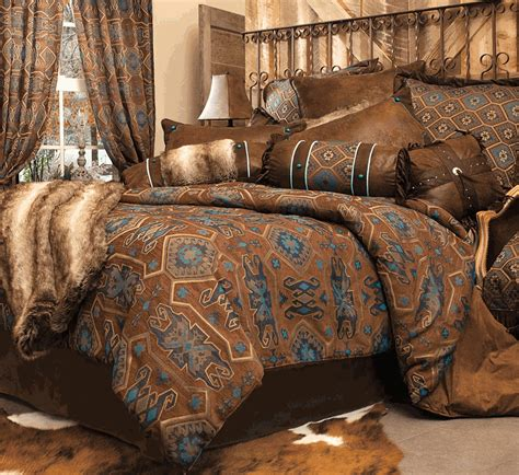 western bed comforter sets rustic bedding turquoise mesa bedding collection black