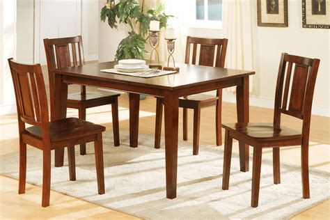 dining room chairs with a matching dining table 5 piece dining table set cherry finish huntington beach