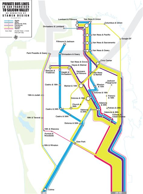 design running route google maps the silicon valley shuttles revealed human transit