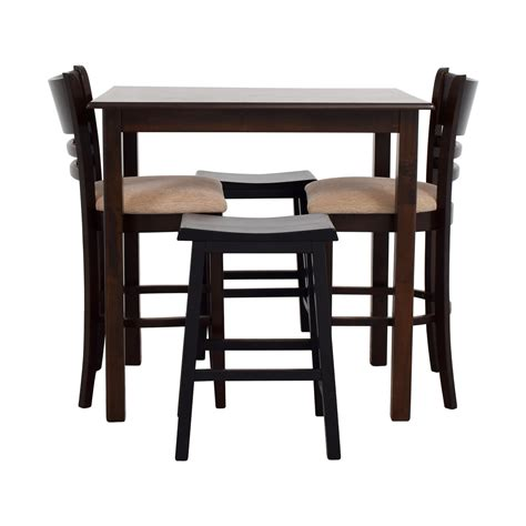 bar table with two stools dining sets used dining sets for sale