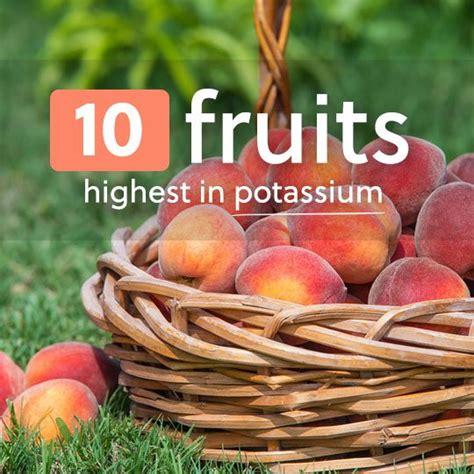 fruit high in potassium 10 fruits highest in potassium