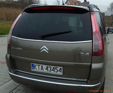citroen c4 picasso trunk citroen c4 i grand picasso ua 06 13 chrome trim