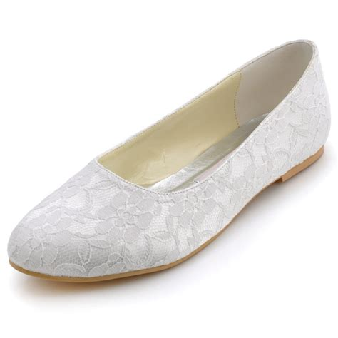 flats wedding shoes fashion flat shoes plus size ep11106 white