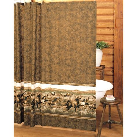 wild shower curtains wild horses shower curtain