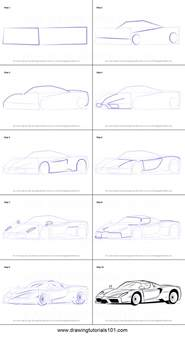 How To Draw A Enzo Step By Step How To Draw A Enzo Printable Step By Step Drawing