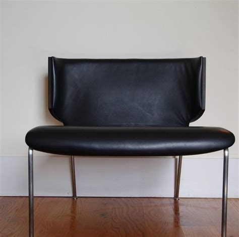 contemporary leather armchair italian modern armchair black leather and wenge wood