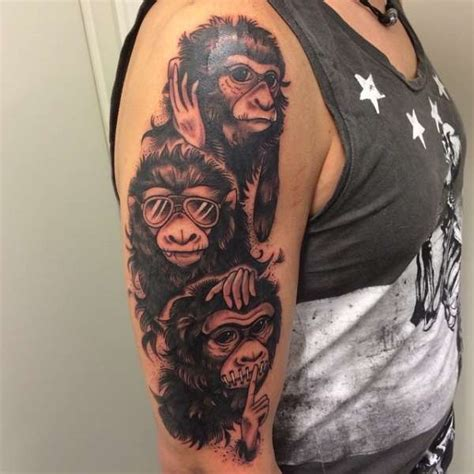three monkeys tattoo design three monkeys