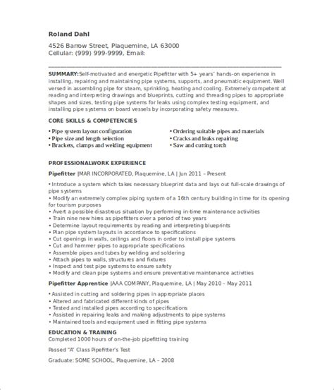pipefitter cover letter pipefitter resume templates free premium templates