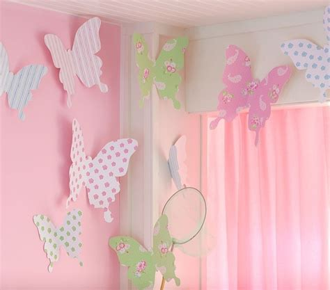 room paper butterfly wall decor craft and - Butterfly Wall Decor For Room