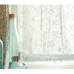 Coastal Kitchen Curtains Starfish Valances And Tiers
