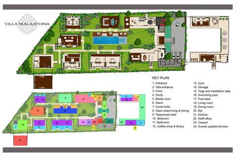 floor plan villa malaathina luxury umalas bali villa