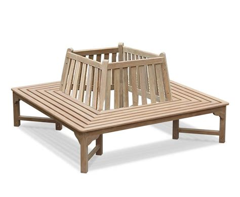 wrap around bench teak square wrap around bench with back 1 8m