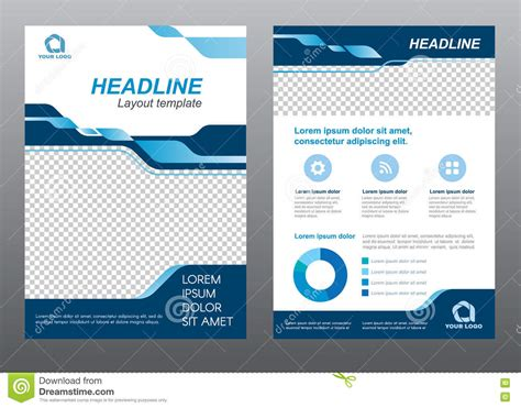 a4 layout design free layout flyer template size a4 cover page blue tone vector