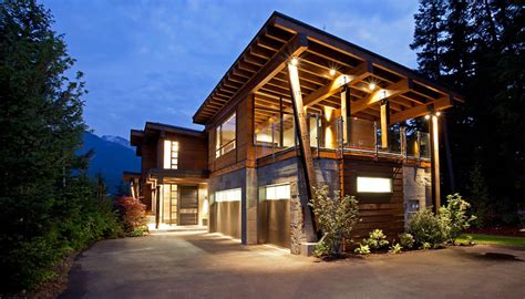 Small Mountain Home Decor Luxury House With A Modern Contemporary Interior Digsdigs