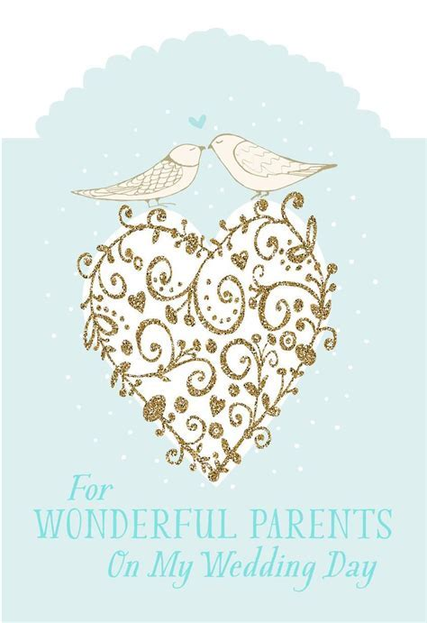 For My Parents On My Wedding Day Card   Greeting Cards