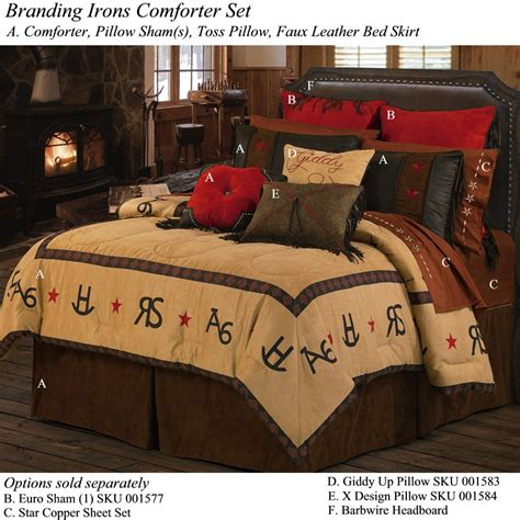 western beds western comforter sets texas star barbed wire western