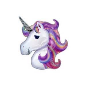 unicorn head balloon soiree party