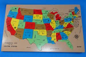 sifo commercial map of the united states inlaid wooden