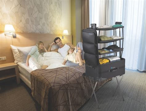suitcase with shelves shelfpack a new of luggage with built in shelves by