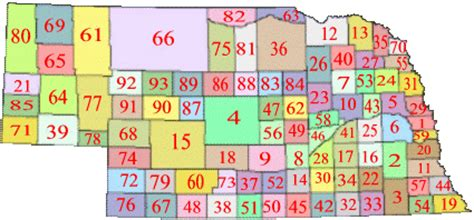 Nebraska Number Search Http Geology County Map Nebraska County Map Gif Things To