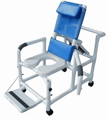 reclining commode lumex pvc reclining shower commode chair
